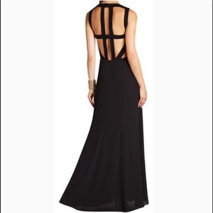 BCBG Angelinah gorgeous cut-out formal black gown